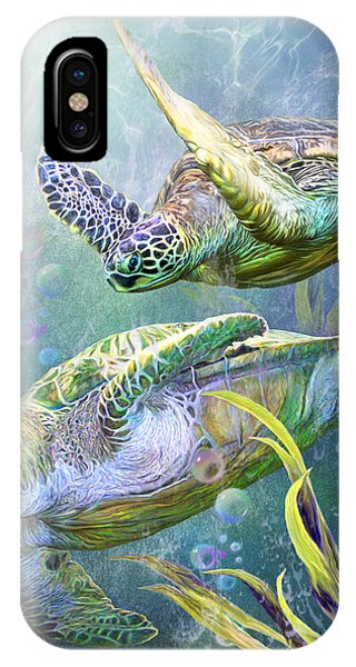 Traveler iPhone Case - Sea Turtles - Ancient Travelers by Carol Cavalaris