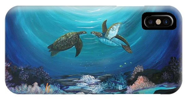 Sea Turtles Greeting IPhone Case
