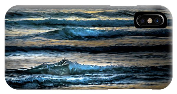 Sea Waves After Sunset IPhone Case
