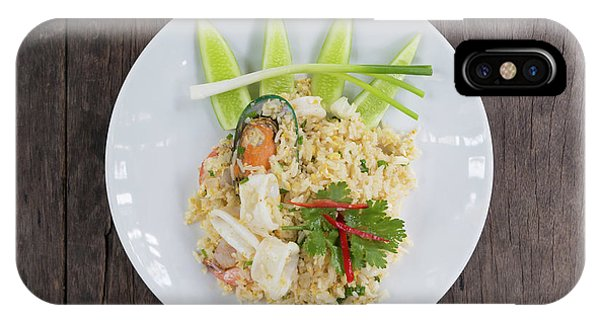 Squid iPhone Case - Seafood Fried Rice by Atiketta Sangasaeng