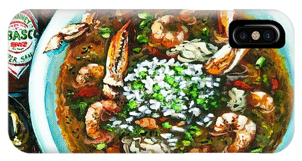 Food And Beverage iPhone Case - Seafood Gumbo by Dianne Parks
