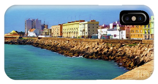 Seafront Promenade In Cadiz IPhone Case
