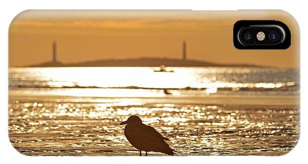 Seagull Admiring Thacher Island Gloucester Ma Good Harbor Beach IPhone Case