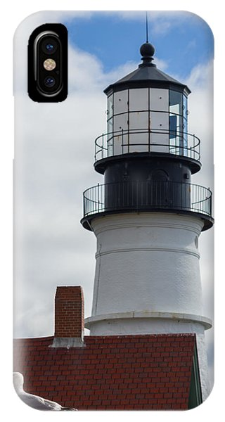Seagull At Portland Head Light IPhone Case