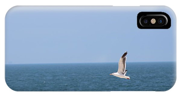Seagull Flying Over Huntington Beach IPhone Case