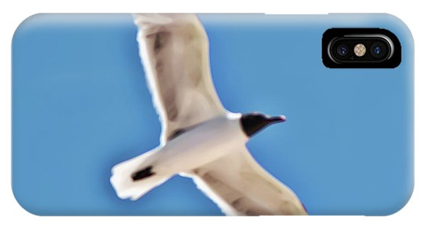 Seagull In Flight IPhone Case