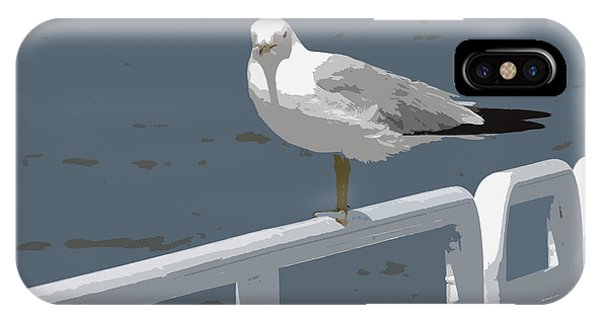 Seagull On The Rail IPhone Case