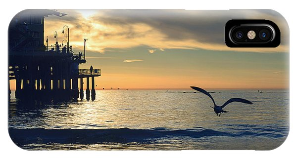 Seagull Pier Sunrise Seascape C2 IPhone Case