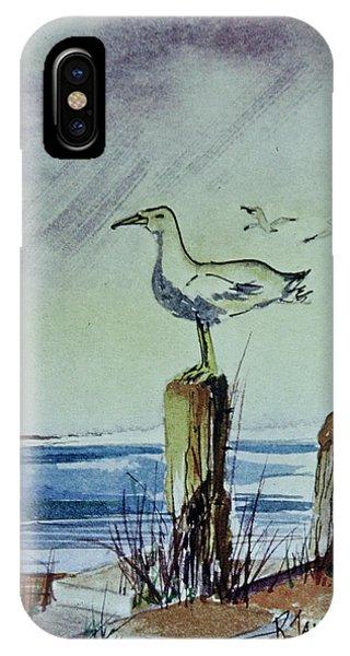 Pylon iPhone Case - Seagull by Richard Jansen