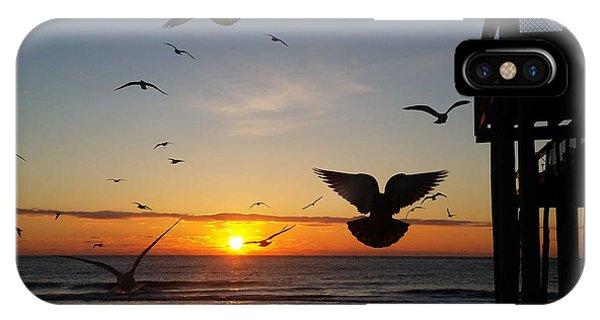 Seagulls At Sunrise IPhone Case