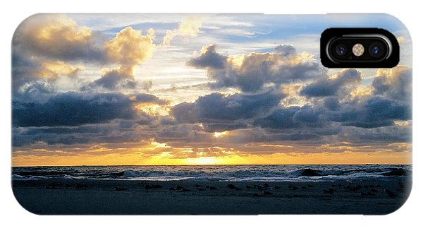 Seagulls On The Beach At Sunrise IPhone Case