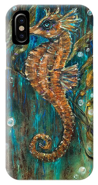 Seahorse And Kelp IPhone Case