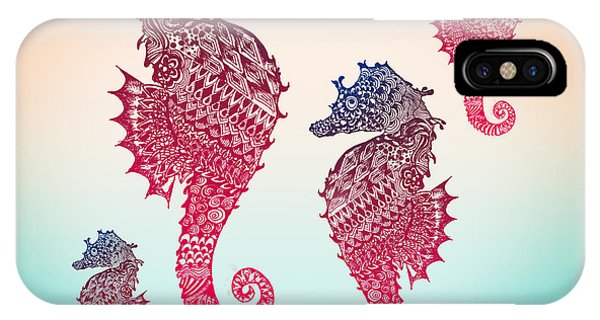 Beach iPhone Case - Seahorse by Mark Ashkenazi