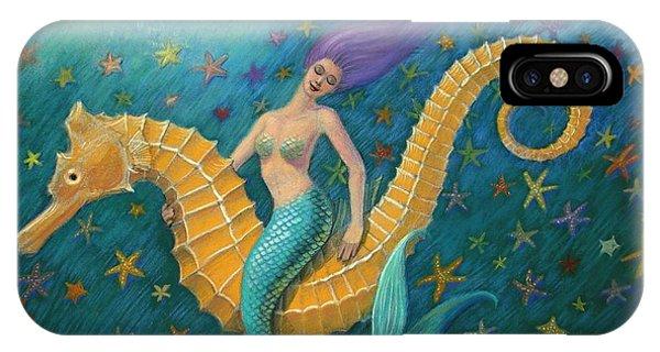 Seahorse iPhone Case - Seahorse Mermaid by Sue Halstenberg
