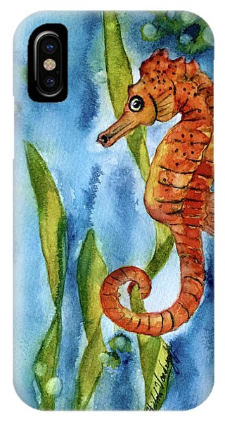 Seahorse With Sea Grass IPhone Case