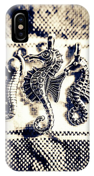 Seahorse iPhone Case - Seahorses In Blue by Jorgo Photography - Wall Art Gallery