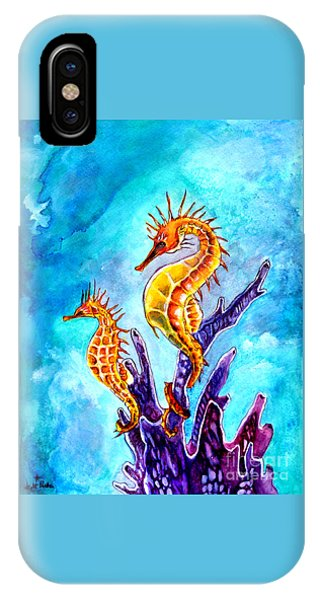 Seahorses IPhone Case