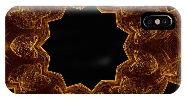 Seamless Kaleidoscope Gold IPhone Case