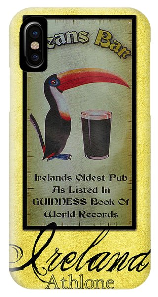 Seans Bar Guinness Pub Sign Athlone Ireland IPhone Case