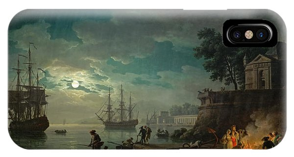 Seaport By Moonlight IPhone Case
