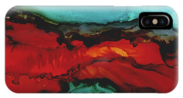 Seascape At Night In Alcohol Inks IPhone Case