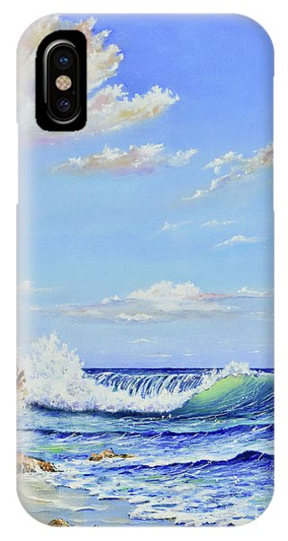 IPhone Case featuring the painting Seascape Beach by Mary Scott