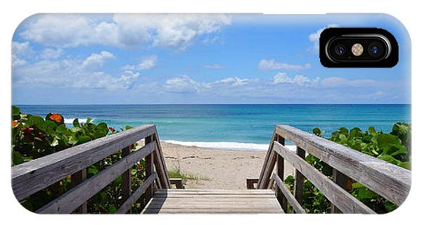 Seascape  Boardwalks Treasure Coast Florida Collage 1 IPhone Case