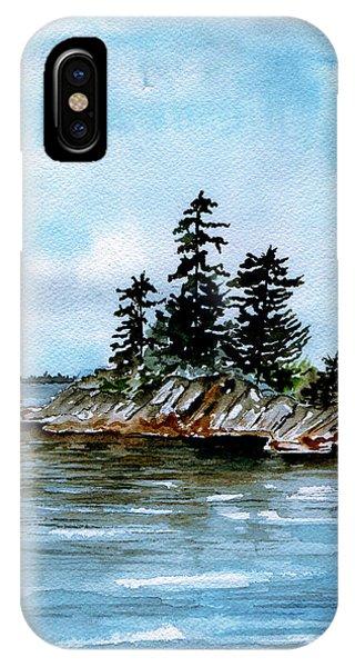 Seascape Casco Bay Maine IPhone Case