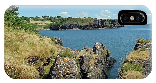 Dunmore East iPhone Case - Seascape Dunmore East. by Terence Davis