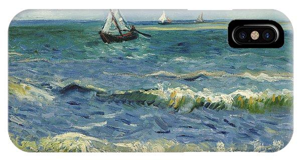 French Artist iPhone Case - Seascape Near Les Saintes Maries De La Mer by Vincent van Gogh