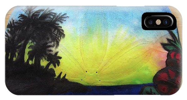 Seascape On A Sand Dollar IPhone Case