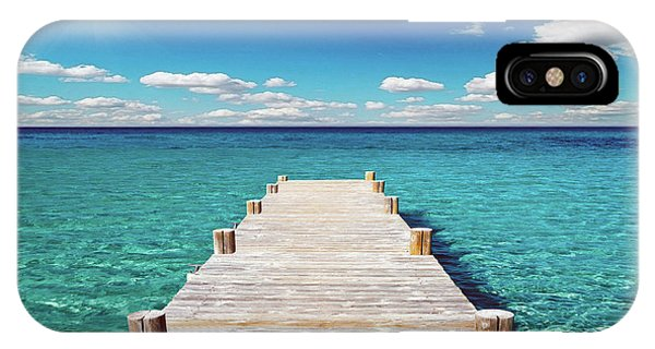 Seascape Sunrise Treasure Coast Florida Pier C6 IPhone Case