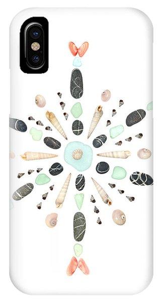 Seashell Snowflake 4 IPhone Case