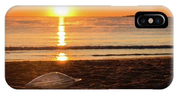 IPhone Case featuring the photograph Seashell Sunrise by Kirkodd Photography Of New England