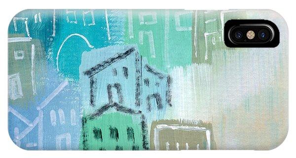 Town iPhone Case - Seaside City- Art By Linda Woods by Linda Woods