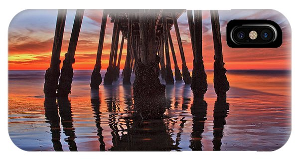 Seaside Reflections Under The Imperial Beach Pier IPhone Case