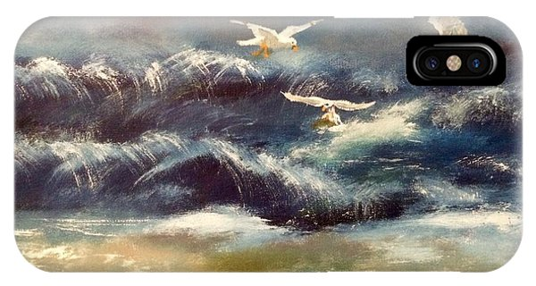 IPhone Case featuring the painting Seaside Serenade by Denise Tomasura