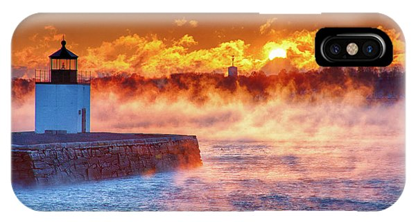 Seasmoke At Salem Lighthouse IPhone Case