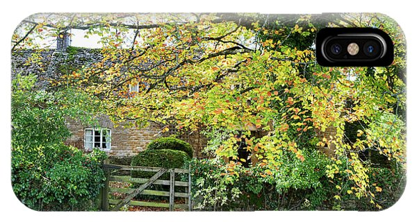 English Village iPhone Case - Seasonal Wyck Rissington  by Tim Gainey