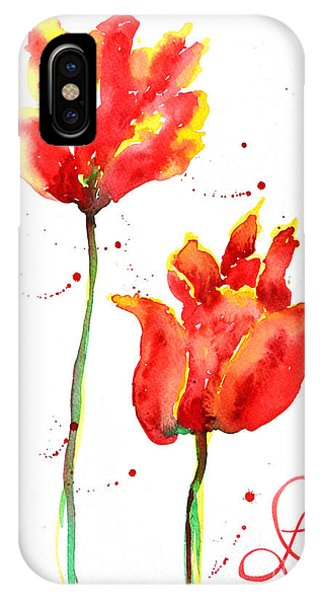Season's First Tulips IPhone Case