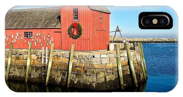 Season's Greetings Rockport Ma IPhone Case