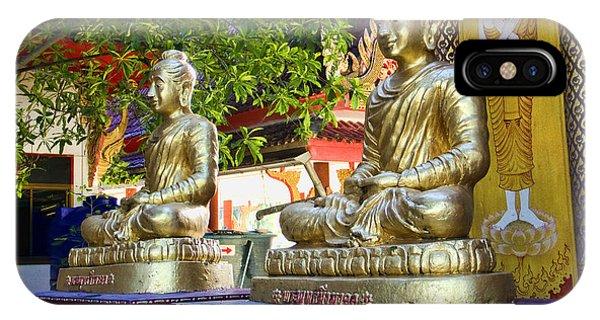 Seated Buddhas IPhone Case