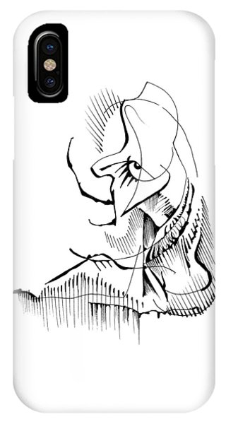 IPhone Case featuring the drawing Seated Ennui by Keith A Link
