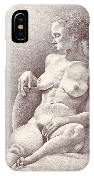 Seated Figure No. 6 IPhone Case