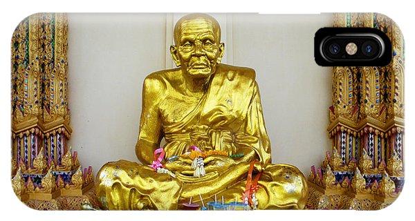 Seated Holy Man At Koh Samui IPhone Case
