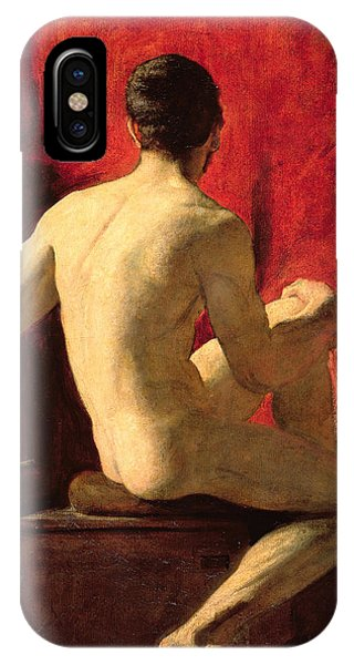 Seated Male Model IPhone Case