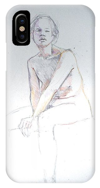 Seated Study 2 IPhone Case