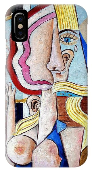 iPhone Case - Seated Woman by RB McGrath