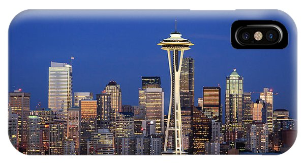 Seattle At Dusk IPhone Case