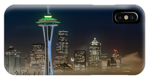 Seattle Foggy Night Lights IPhone Case